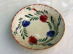 Assiette ancienne de collection plat en faience  par VintageSyell