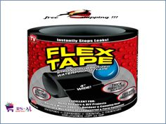 NEW-Flex-Tape-Black-4-039-039-x5-039-Strong-Rubberized-Top-Quality-flexible-AS-SEEN-ON-TV