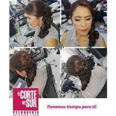 #Peinado #Maquillaje  Compartimos este excelente trabajo de nuestra estilista profesional Adriana Vargas  Nuestros horarios:  Lunes a viernes 6 am a 9 pm Sábado 7 am a 9 pm Domingos y festivos 9 am a 7 pm  ¡Tenemos tiempo para ti!