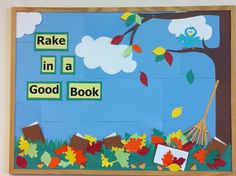 2013 Fall library bulletin board!! Proud of this one!!