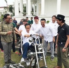 . Being a biker is more than just riding a bike. You feel it in your heart and in your soul.   Dear Indonesians, our President @jokowi is the real biker and he is on FIRE!   : credential of @shitlicious  #FireMotorcycle .