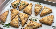 Keto Ham and Cheese Savory Scones Low Carb Recipe