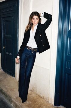 high waist + blazer + prep