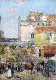 Marche, St. Pierre, Montmartre by Childe Hassam (USA)
