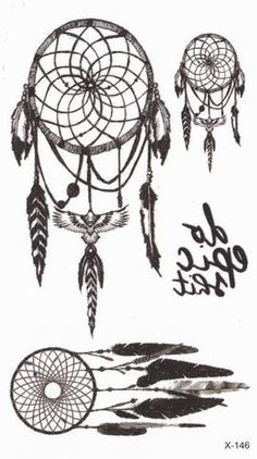 Tribal Dreamcatcher Temporary Tattoos at MyBodiArt