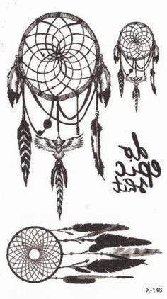 Tribal Dreamcatcher Temporary Tattoos at MyBodiArt
