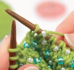 Tutorial: working with beads - Knitting Blog - Let's Knit Magazine.