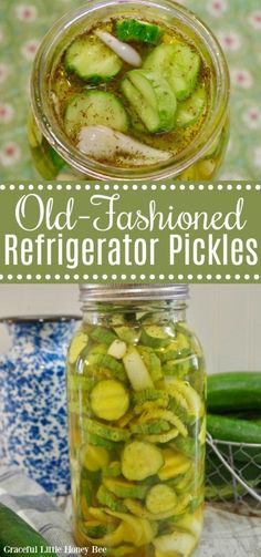 Whip up a batch of these Old-Fashioned Sweet Refrigerator Pickles for a delicious homegrown treat that is sure to satisfy your sweet and salty cravings! #cucumbers #pickles #homegrown Sweet Refrigerator Pickles, Sweet Pickles, Recipe From Scratch, Recipe For Mom, Canning Recipes, Kitchen Recipes, Real Food Recipes, Healthy Recipes, Delicious Recipes