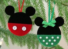 7 DIY Mickey Mouse Christmas Ornaments | Overstuffed