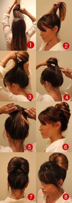 DIY: Penteado fofo pra você fazer sozinha Hair makeup Unless you have been living under a rock I am sure you are well aware the hair scrunchie trend is back. Pretty Hairstyles, Easy Hairstyles, Wedge Hairstyles, Hairstyles Videos, Fringe Hairstyles, Everyday Hairstyles, Formal Hairstyles, Wedding Hairstyles, Bouffant Hairstyles