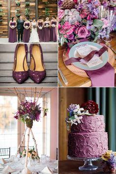 Inspirational Wedding Ideas #227: Plum & Burgundy - http://www.diyweddingsmag.com/inspirational-wedding-ideas-227-plum-burgundy/