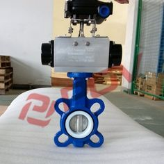 93.00$  Watch here - http://ali7fu.shopchina.info/go.php?t=32233734355 - 2 inch pneumatic wafer ptfe butterfly valve 93.00$ #shopstyle