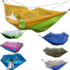 Mosquito net Hammock Parachute cloth Thin breathable camping Air tent Swing #Affiliate