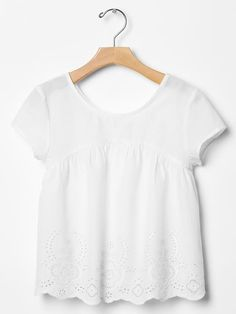 Eyelet scoopback top Product Image