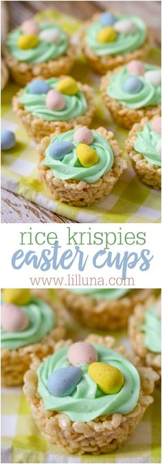 Krispie Easter Nests Rice Krispies Easter Cups - a cute and simple treat to make this Easter that everyone will love.Rice Krispies Easter Cups - a cute and simple treat to make this Easter that everyone will love. Rice Krispies, Rice Krispie Treats, Rice Krispy Nests, Cocoa Krispies, Holiday Desserts, Holiday Baking, Holiday Treats, Holiday Parties, Easter Egg Candy