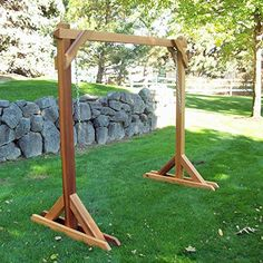 Basic Frame Cedar Porch Swing Stand Wood Should not be a difficult thing to build?