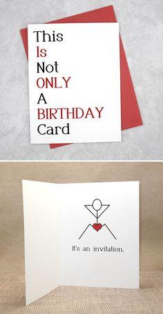 Handmade Cards For Boyfriend, Diy Birthday Card For Boyfriend, Birthday Card Sayings, Homemade Birthday Cards, Birthday Cards For Friends, Funny Birthday Cards, Boyfriend Card, Boyfriend Ideas, Birthday Him