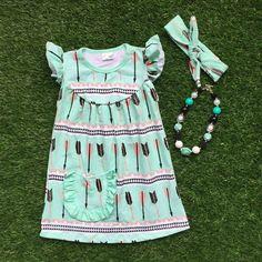 Arrow Dress with Pocket