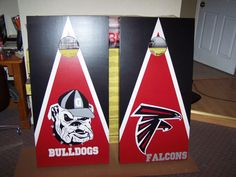 Custom UGA Cornhole Boards