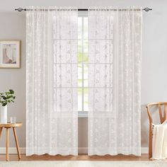 11 Best White Sheer Curtains - CountryCurtains White Sheer Curtains, Voile Curtains, Sheer Curtain Panels, Window Curtains, Interior Decorating, Interior Design, Rustic White, Soft Furnishings, Upholstery