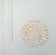 Ermanno Besozzi pittore 1972 Composizione idropottura su tavola cm. 40x40 arc. 181