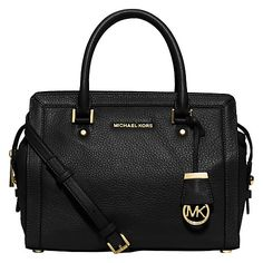 Buy MICHAEL Michael Kors Collins Leather Satchel Online at johnlewis.com