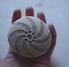 crochet rock, lace stone