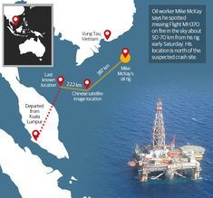 Oil rig worker says he saw Malaysia Airlines Flight MH370 burst into flames   News.com.au . 13 March 014