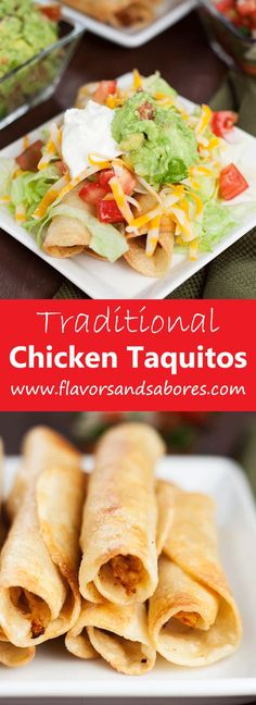 This easy recipe for Traditional Chicken Taquitos comes together in minutes and make anything but ordinary taquitos.