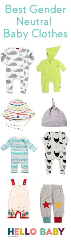 Rainbow brights or black and whites, gender-neutral clothing is a smart registry staple.