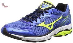 Mizuno Wave Equate, Chaussures de Running Entrainement Homme, Bleu (Strong Blue/Silver/Safety Yellow), 45 EU