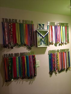 How to display Track and Cross Country medals.