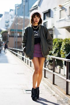 Tokyo Street Fashion =>  Beautiful girl and nice style