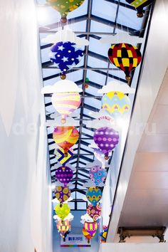 "ТЦ ""Облака"" (весна 2015) Atrium, Hot Air Balloon, Balloons, Deco, Globes, Hot Air Balloons, Decoration, Deko, Decor"