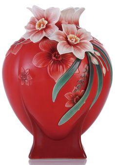 FZ03276 Franz Porcelain Divine Blessing Narcissus Design Sculptured Large Vase | eBay