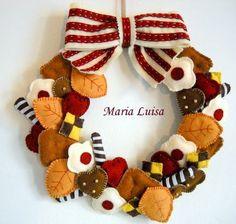 sweet felt wreath (web site in Italian)