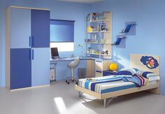 azul en habitacion juvenil