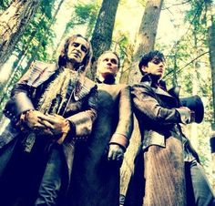Rumplestilskin, Dr Whale and Jeffery on the set of Once Upon A Time. #OUAT