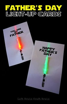 Make the Star Wars dad in your life a fun light-up Father's Day card. STEM learning made fun.