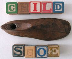wooden antique child SHOE FORM