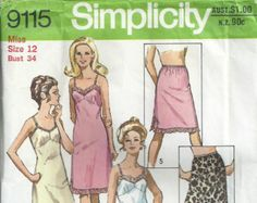 Justknits Ladies (8 to 22) & Girls (2 to 12) Lingerie Pattern 96136  This listing is for a multi sized pattern with sewing instructions for the following lingerie: Ladies - half slip, full slip, high cut full brief, regular brief, string bikini, singlet top, maillot top & camisole Girls - small sizes bra, regular brief, high cut bikini & string bikini  See image #2 and ZOOM IN for pattern design details  Multi Sized Pattern: Ladies 8 - 22, Girls 2 - 12 See Image #2 and ZOOM IN for...