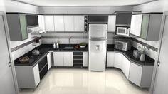 Achei bem bonita essa cozinha, só deixaria os armários de baixo embutidos na parede e sem os pés. Pois ajuda muito na hora da limpeza ;-)