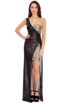 One-Shoulder-Sequin-Two-in-One-Maxi-Dress-Black-DR234-5