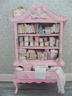 Dolls house miniature lace cupboard by juliedeighton on Etsy, $89.00