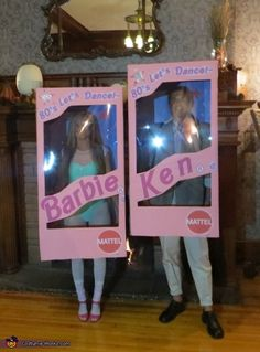 80's Let's Dance! Barbie and Ken ina Box Couple's Halloween Costume Idea