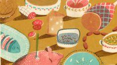 Gorgeous screenprinted textures!!   Melissa Castrillon's MA project 'Rapunzel'