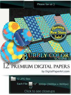 Kids Digital Paper pack. Kids Printable by DigitalPaperArt on Etsy