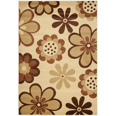 """Andover Mills Stoney Brook Ivory / Brown Contemporary Rug Rug Size: Runner 2'7"""" x 5'"""