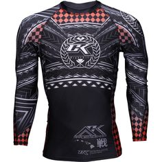 Listed Price: $59.95 Brand: Contract Killer Live the fight life with Contract Killer Haka Tribal Rashguard. This incredible rashguard is��_ Gym Gear For Men, Jiu Jitsu Gear, Sports Jersey Design, Martial Arts Gear, Fight Wear, Rash Guard, Long Sleeve Shirts, Men Sweater, The Incredibles