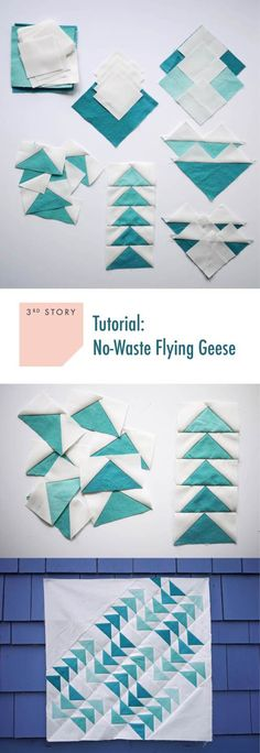 Tutorial: No Waste Flying Geese – with cutting chart for various sized flying geese